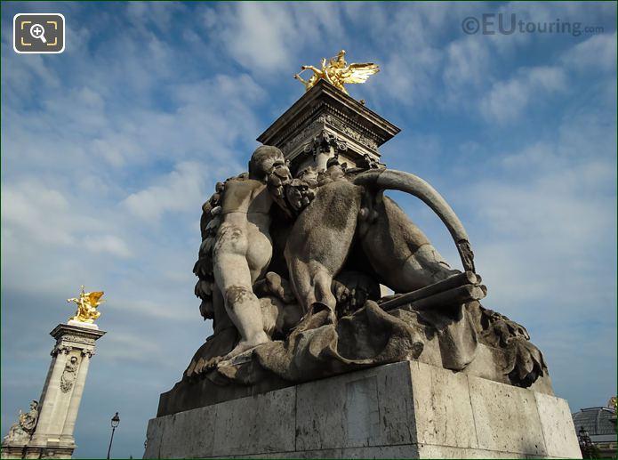 Lion Conduit Par Un Enfant Statue By A J Dalou