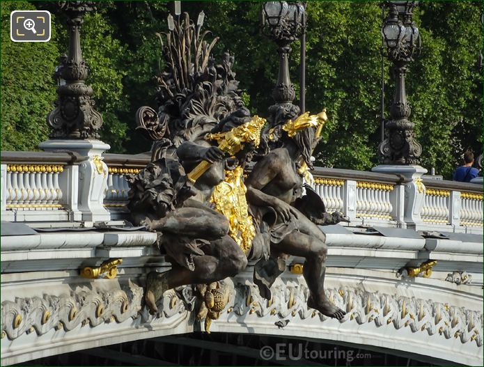 Nymphes De La Neva Statue Group Pont Alexandre III