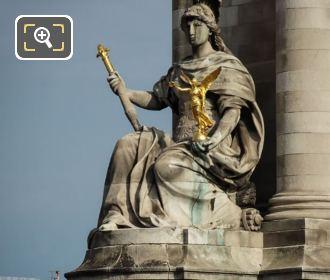 Stone Statue La France De Louis XIV
