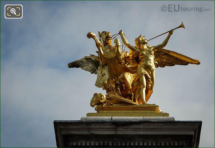 Renommee De l'Industrie Statue By Clement Steiner
