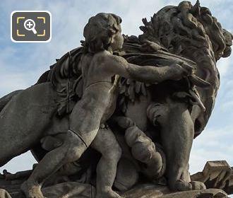 Lion Conduit Par Un Enfant Statue By Jules Dalou