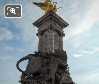 Pont Alexandre III Golden Pegasus Statue