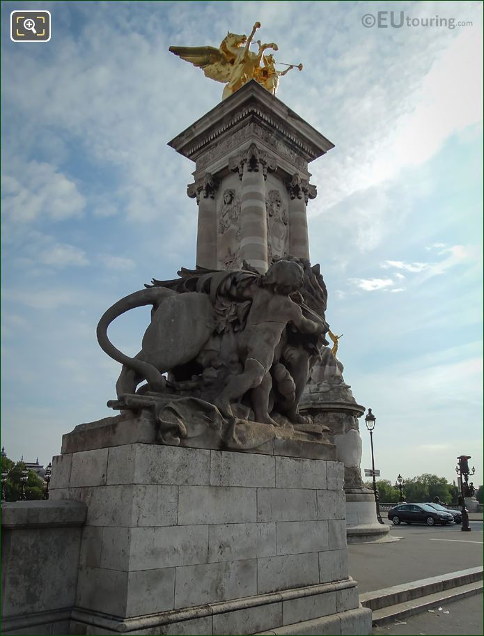 Pont Alexandre II SW Corner With Statues