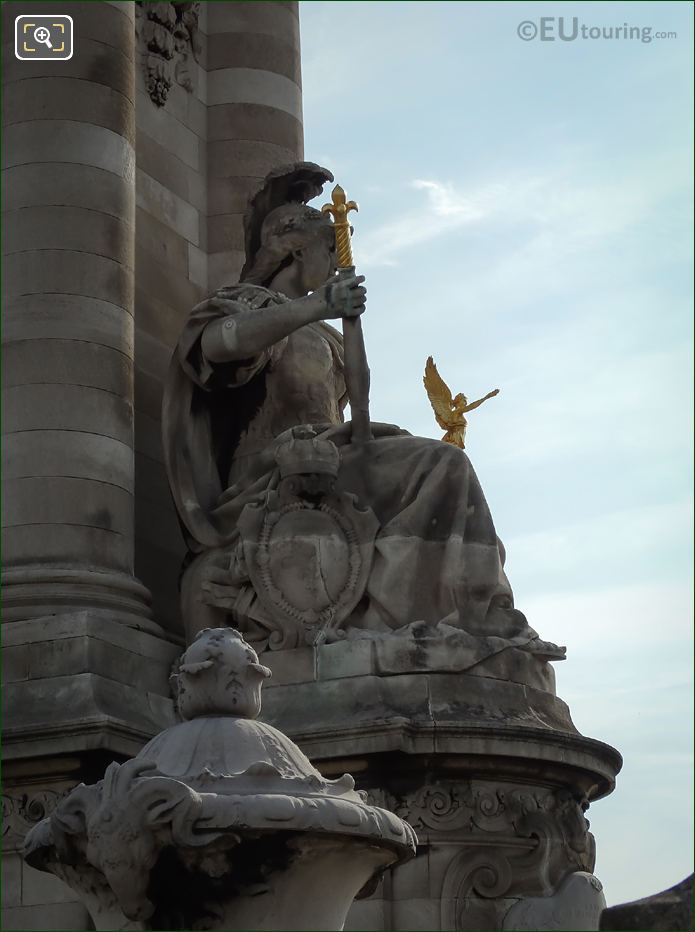 La France De Louis XIV Statue West Side