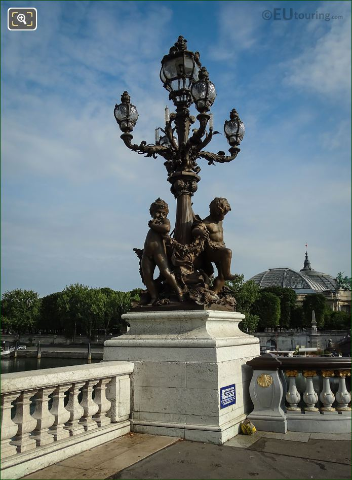 SW Lamp Post Pont Alexandre III Paris