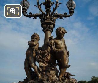Pont Alexandre III SW Bronze Candelabra