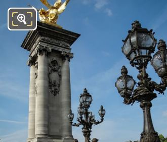 Pont Alexandre III SW Column With Golden Statue