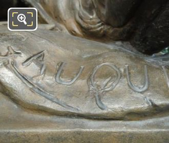 Gauquie Inscription On NW Les Amours Candelabra