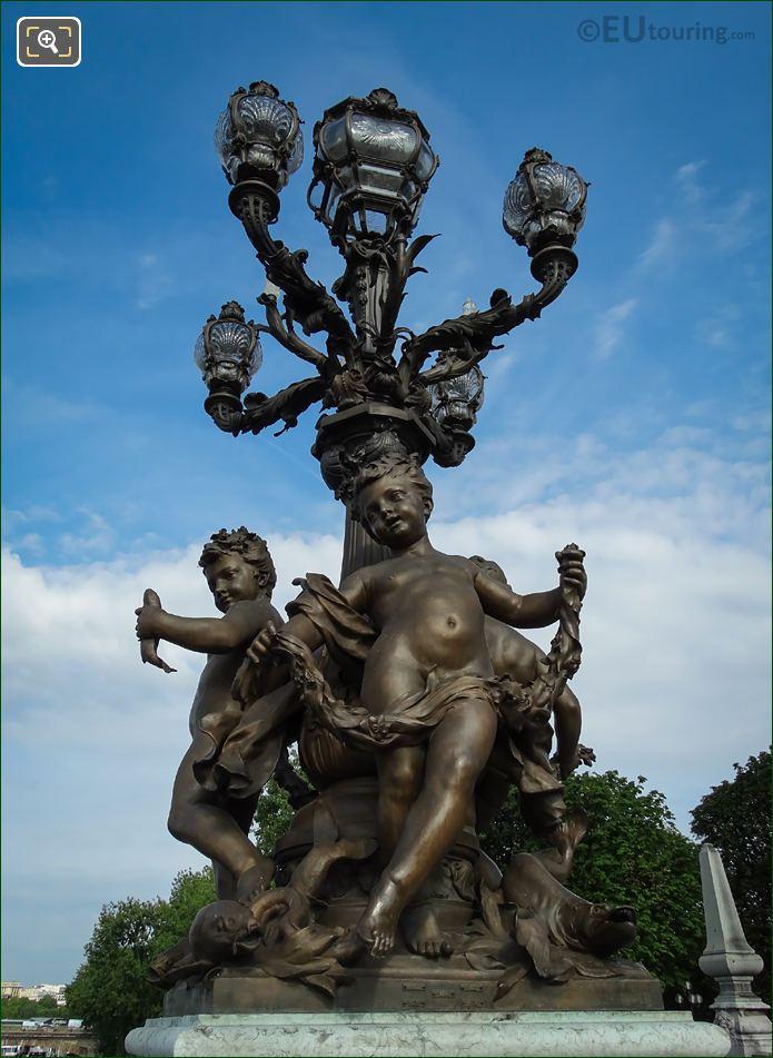 Pont Alexandre III Bronze Candelabra With Cupids