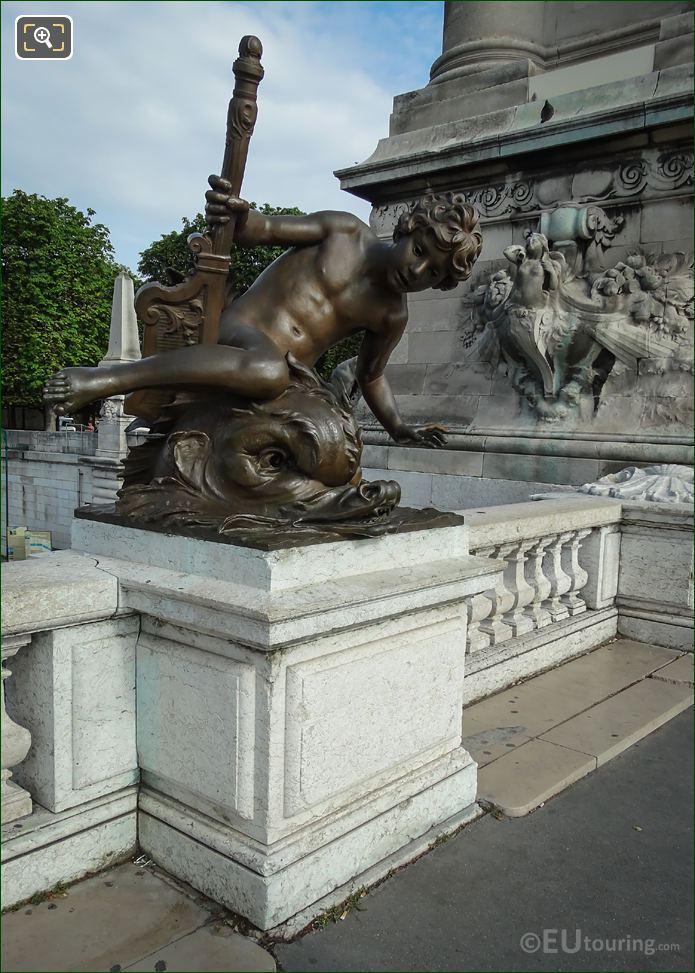 Bronze Statue Enfant au Crabe Alexandre III Bridge