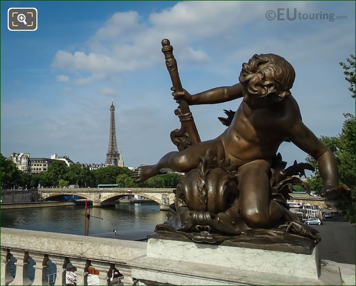 Pont Alexandre III Child With Crab Statue