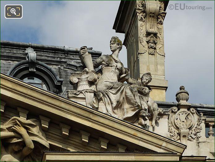 Archeologie Statue By Charles Desvergnes