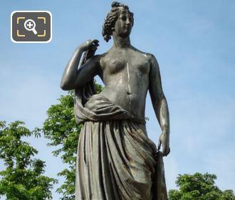 Diane Chasseresse Statue By Jean Louis Desprez