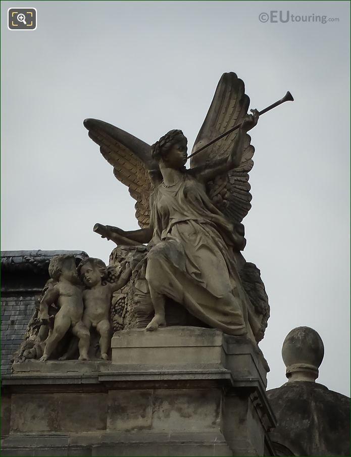 Close Up View Of La Paix Statue Group