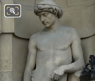 Le Laboureur Statue By Charles Francois Marie Iguel