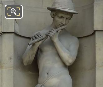 Le Fluteur Statue By Louis Auguste Edmond Leveque