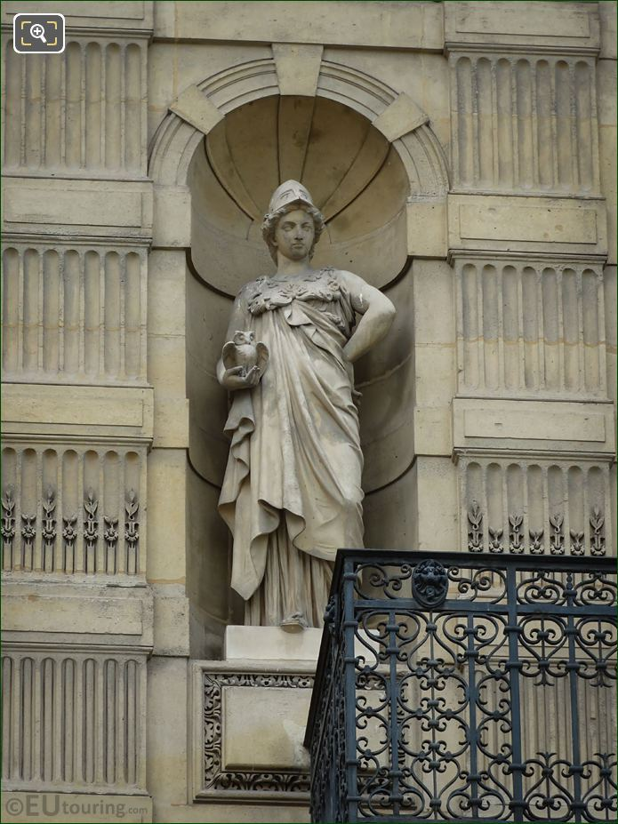 Roman Goddess Of Wisdom Statue Minerve