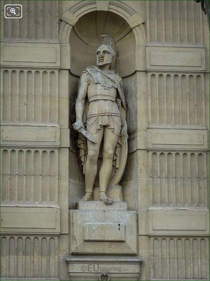 The Etruscan Warrior Statue On Aile De Flore