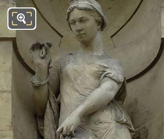 Pecheuse Statue By Sculptor Jean Baptiste Paul Cabet