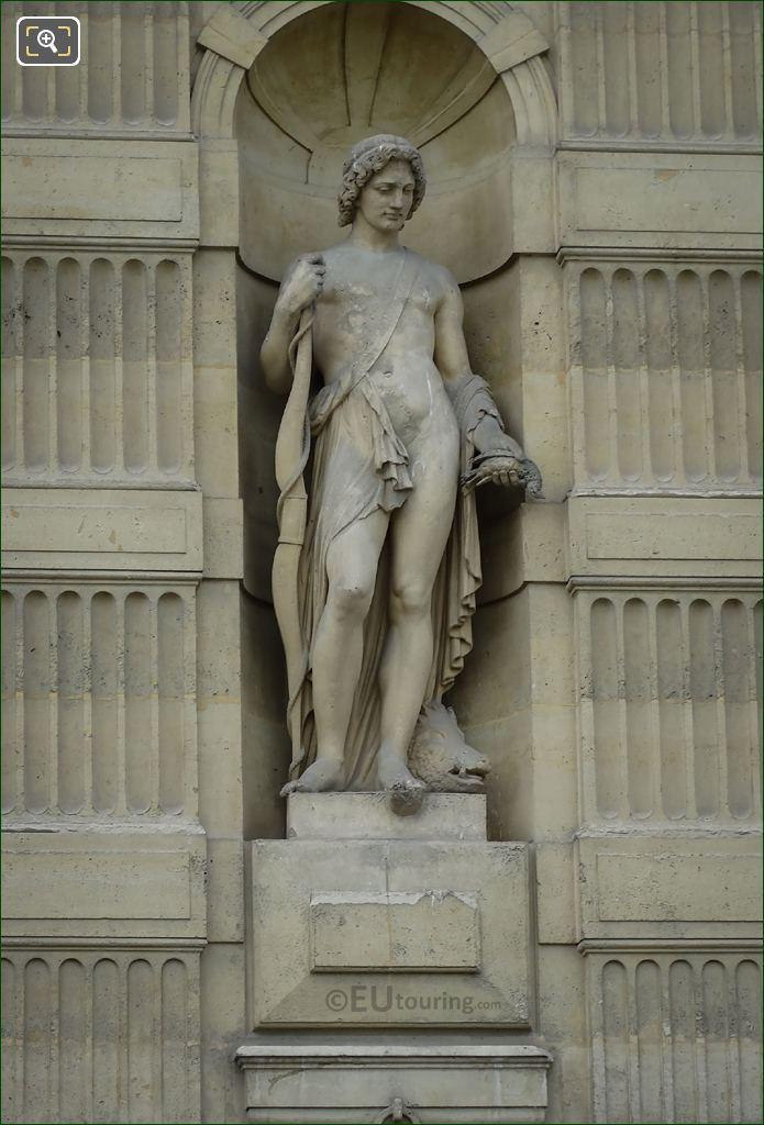 Meleagre Statue By Pierre Travaux On Aile De Flore