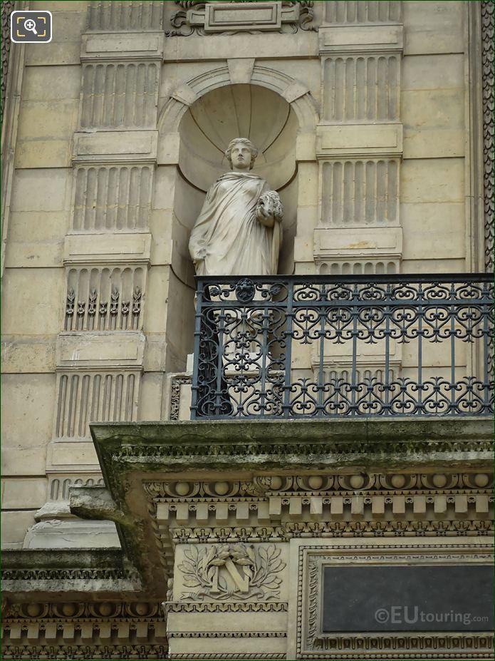 Muse Of Tragedy Statue Melpomene On Aile De Flore