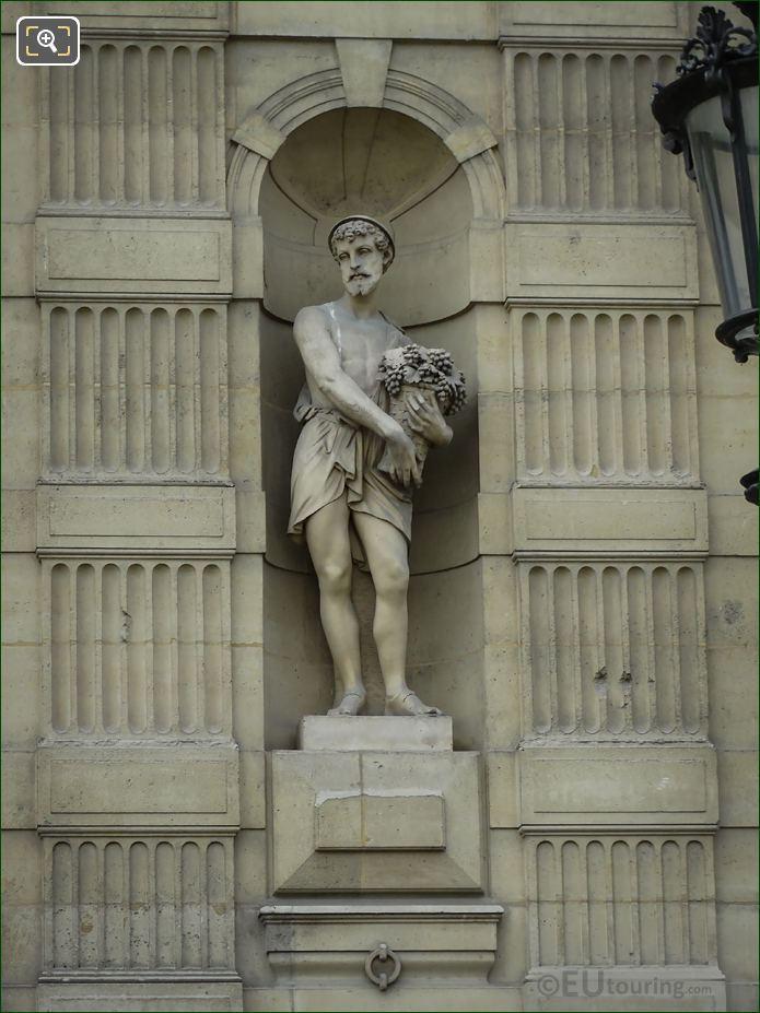 Le Vendangeur Statue On Aile De Flore At The Louvre