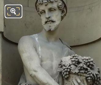 Le Vendangeur Statue By Sculptor Seraphin Denechaux