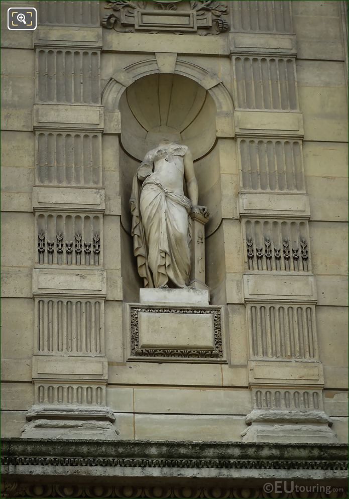 Erigone Statue On Aile De Flore At The Louvre