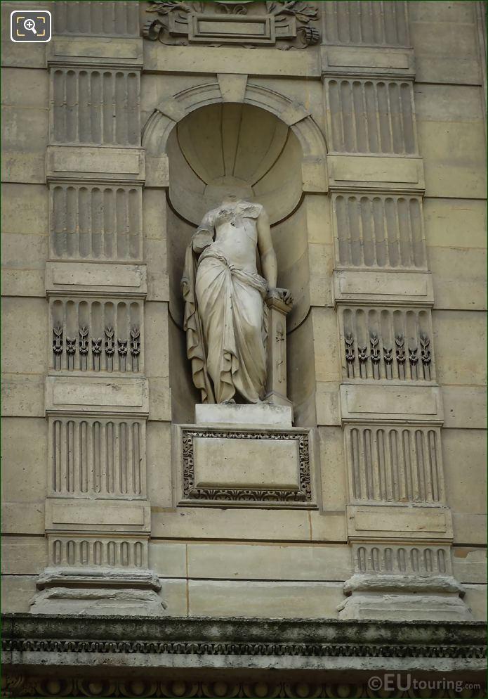 Eragone Statue On Aile De Flore At The Louvre