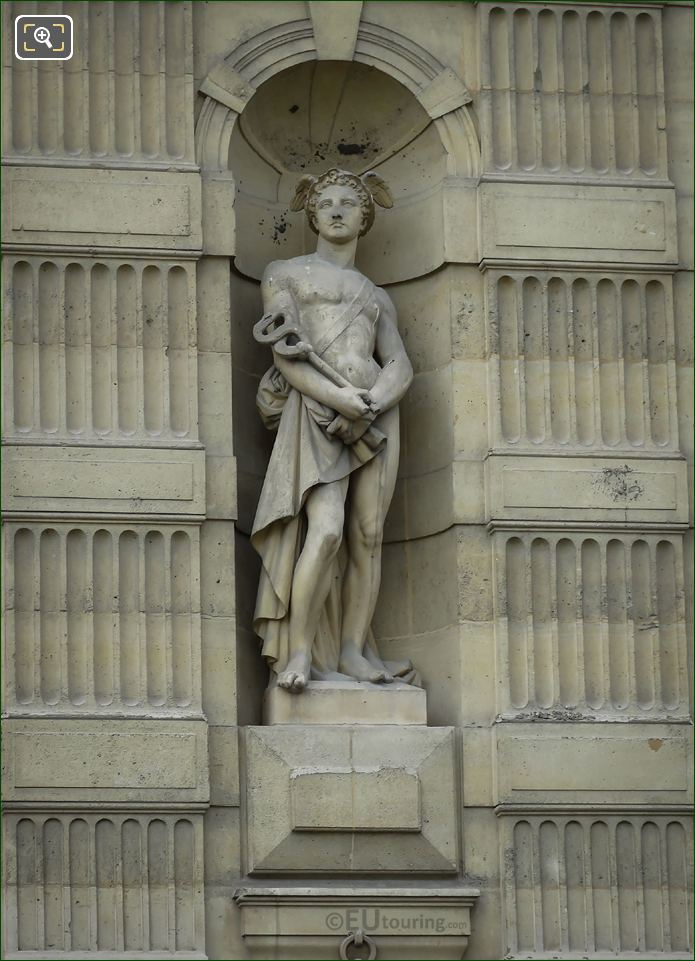 God Of Commerce Statue Mercure On Aile De Flore