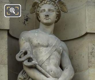 Roman God Of Commerce Statue Mercure By Louis Leopold Chambard