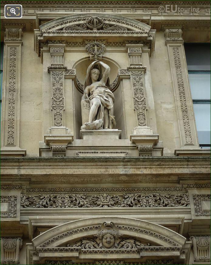 La Loi Statue At Musee Du Louvre
