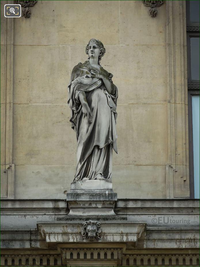 l'Eloquence Statue On Pavillon Des Etats