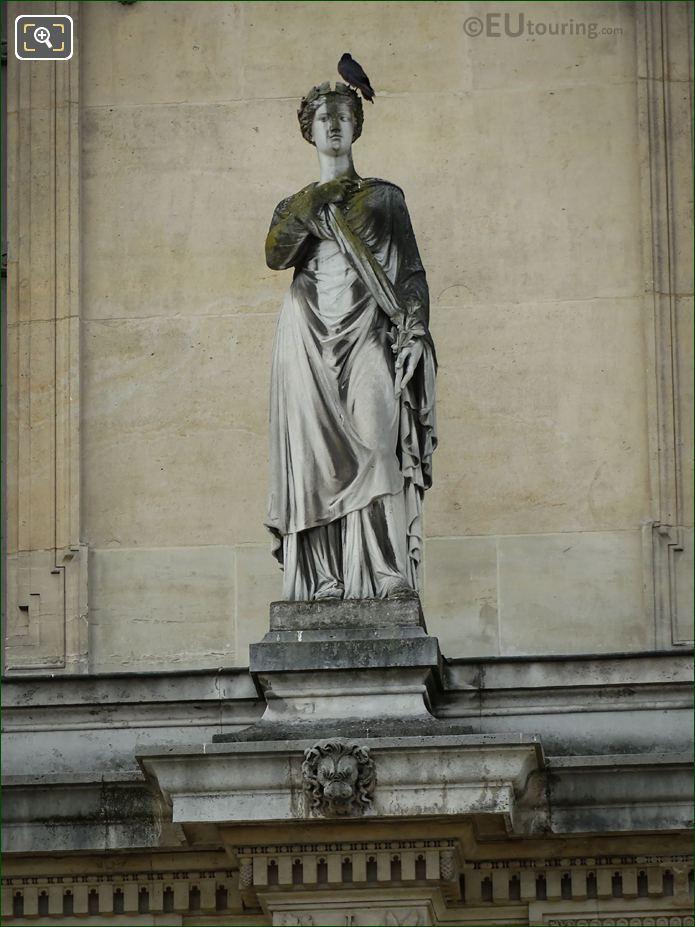 La Paix Statue At Musee Du Louvre