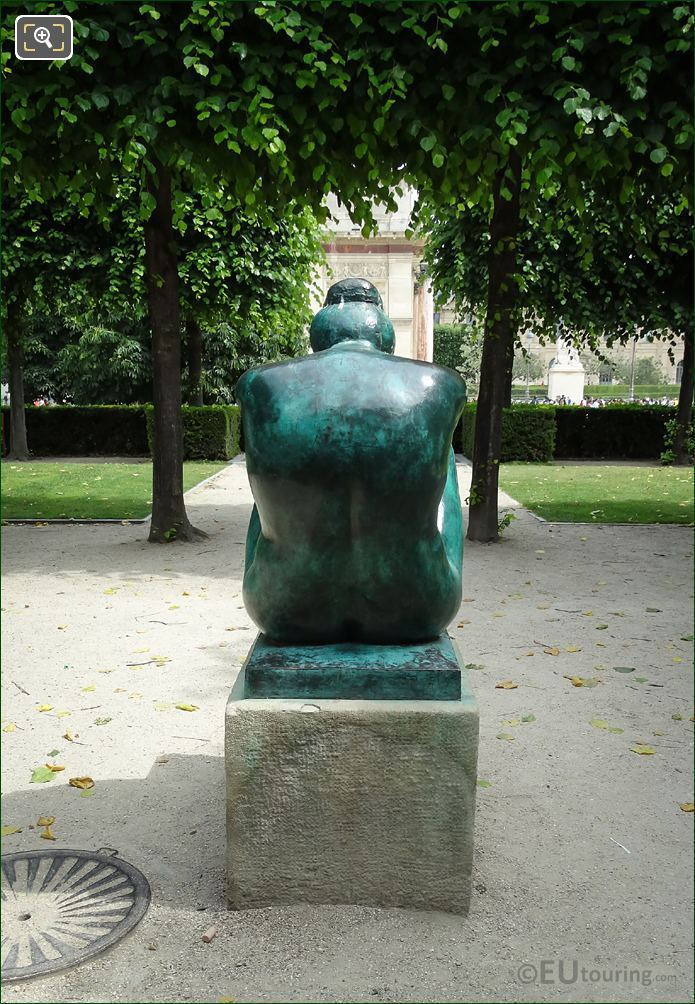 Back Of La Nuit Statue By Aristide Maillol