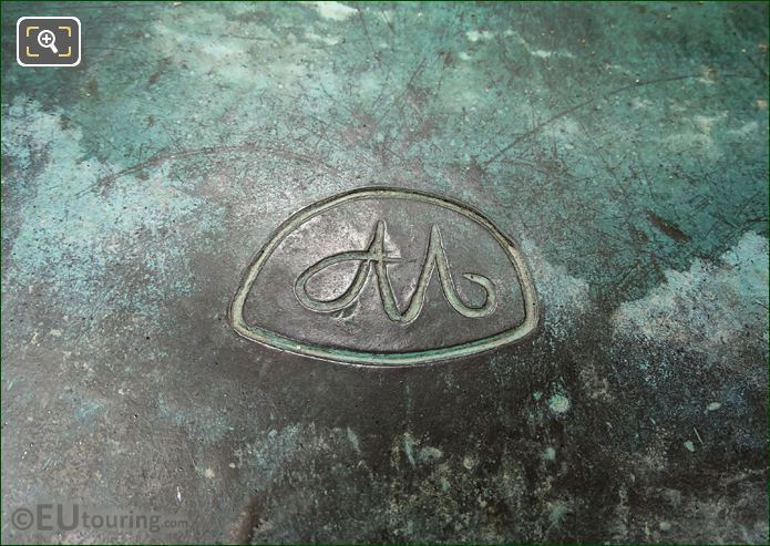Aristide Maillol Monogram On La Nuit Statue