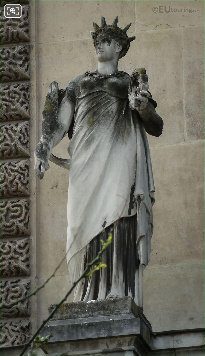 La Gloire Statue By Jean Jules Bernard Salmson