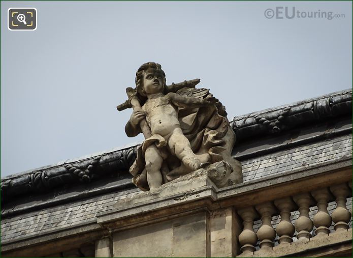 La Tempete Statue On Pavillon Des Etats At The Louvre