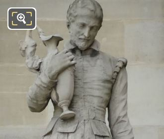 B Palissy Statue At The Louvre