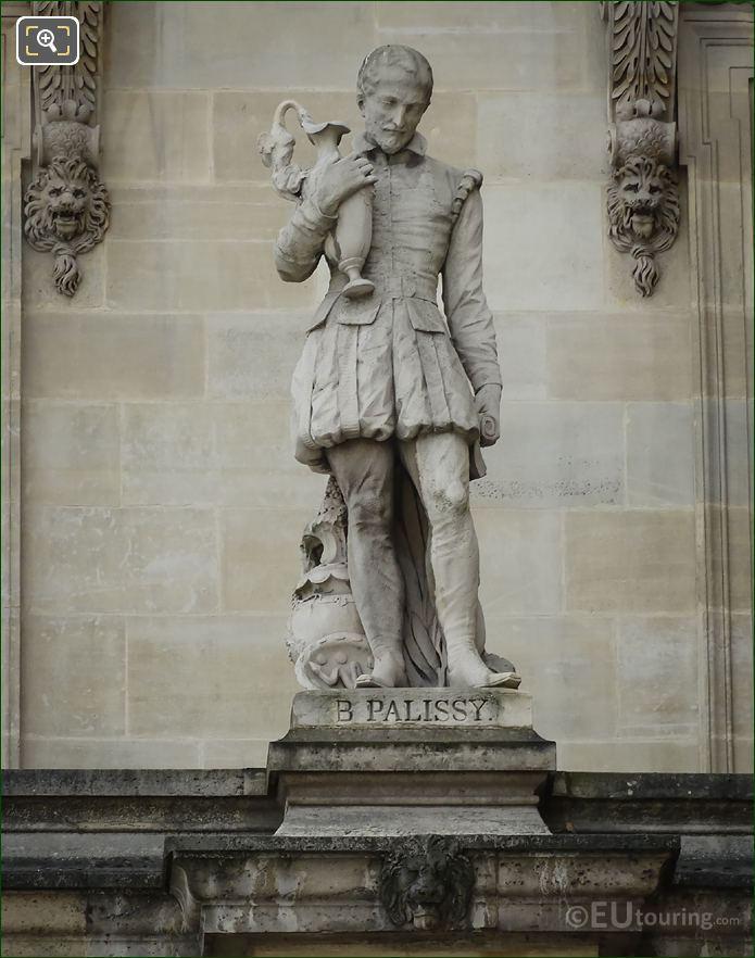 Bernard Palissy Statue By Victor Huguenin