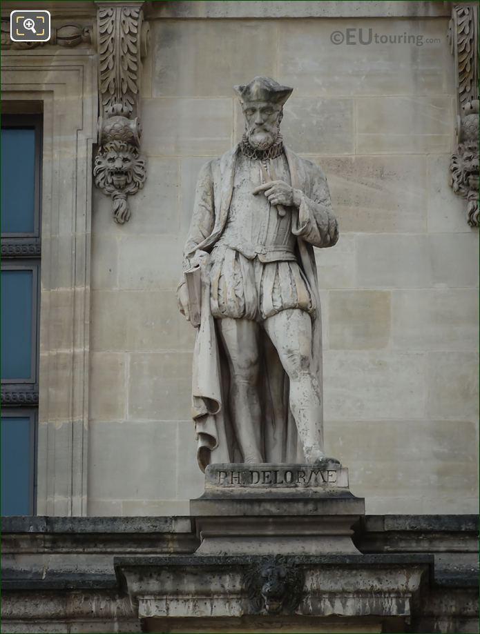 Philibert Delorme Statue By Artist Jean Dantan