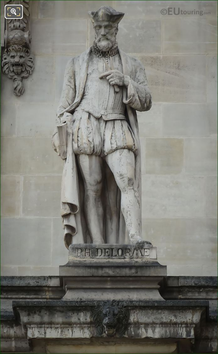 Close Up Picture Of Philibert Delorme Statue