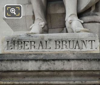 Liberal Bruant Statue Inscription