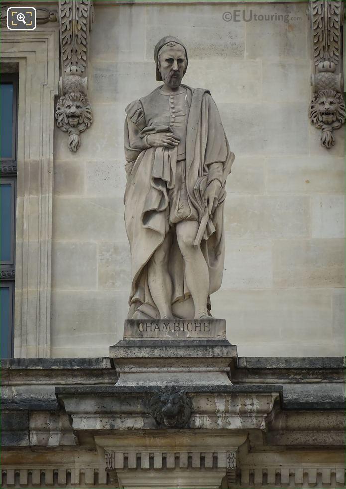 Pierre Chambiche Statue On Aile En Retour Mollien