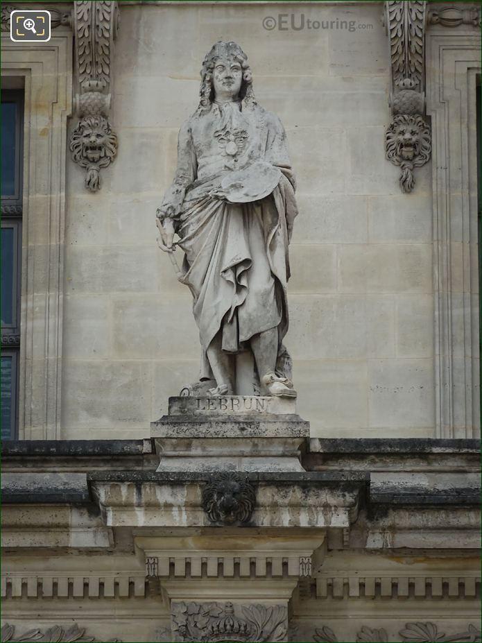 Charles Le Brun Statue On Aile En Retour Mollien