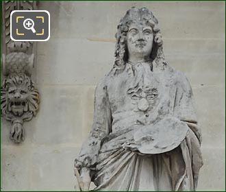 Charles Le Brun Statue By Jean Claude Petit