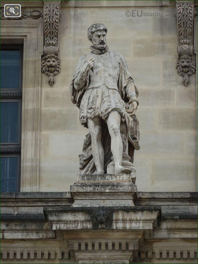 Jean Bullant Statue On Aile En Retour Mollien