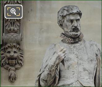 Jean Bullant Statue By Pierre Robinet