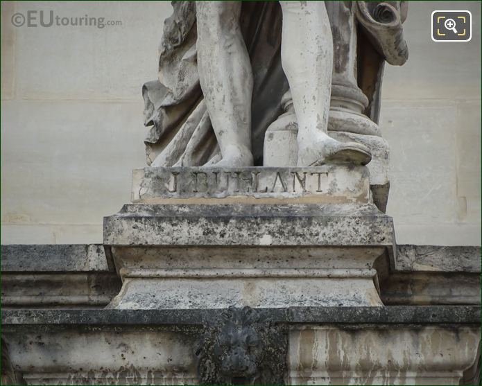 Name Inscription On Jean Bullant Statue