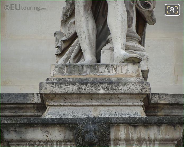 Name Inscription On Jean Bullant Statue